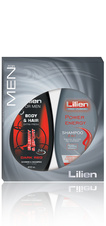 Lilien For Men Dark Red - dárková sada