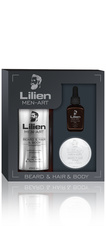 Lilien MEN-ART Beard & Hair & Body - White - dárková sada